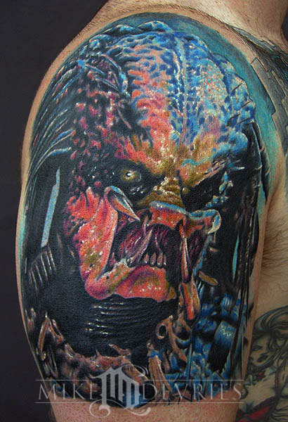 Mike DeVries - Predator Tattoo